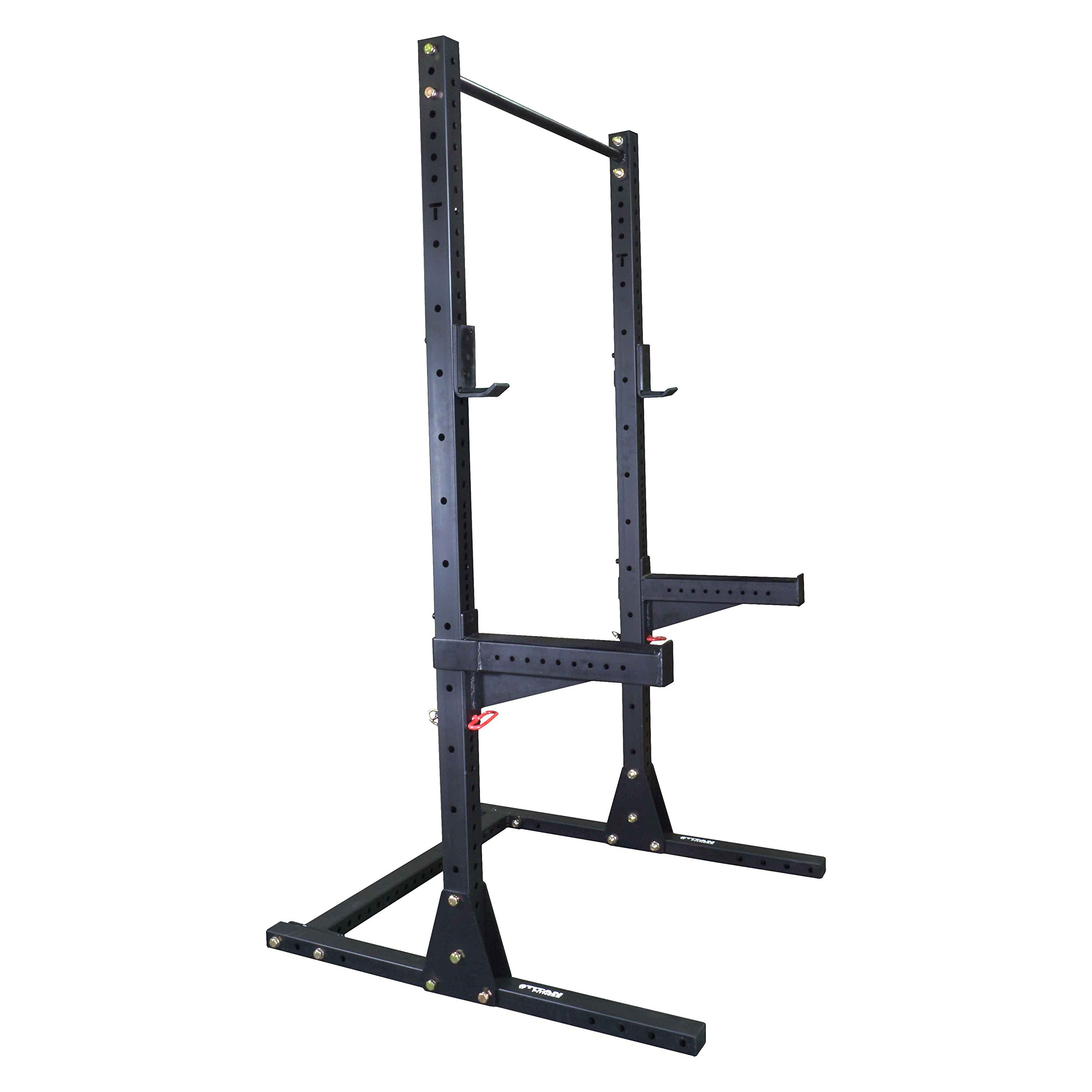 Titan X-3 Adjustable Squat Stand w/ Spotter Arms & Pull Up Bar 3'' x 3''