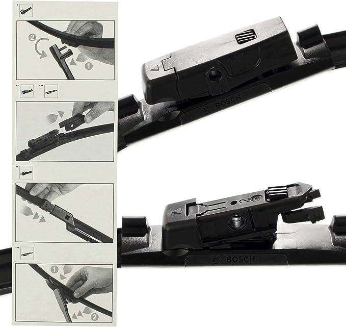Original Bosch Aerotwin Multi Clip Scheibenwischer Wischblätter Set Vorne Hinten Komplettsatz Auto