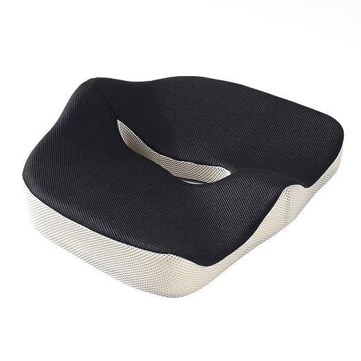 caloics® Asiento – Cojín para asiento de coche – – Cojín de silla cojín Ciática – próstata – Cojín hemorroides cushion- Dolor en la parte baja de la ...