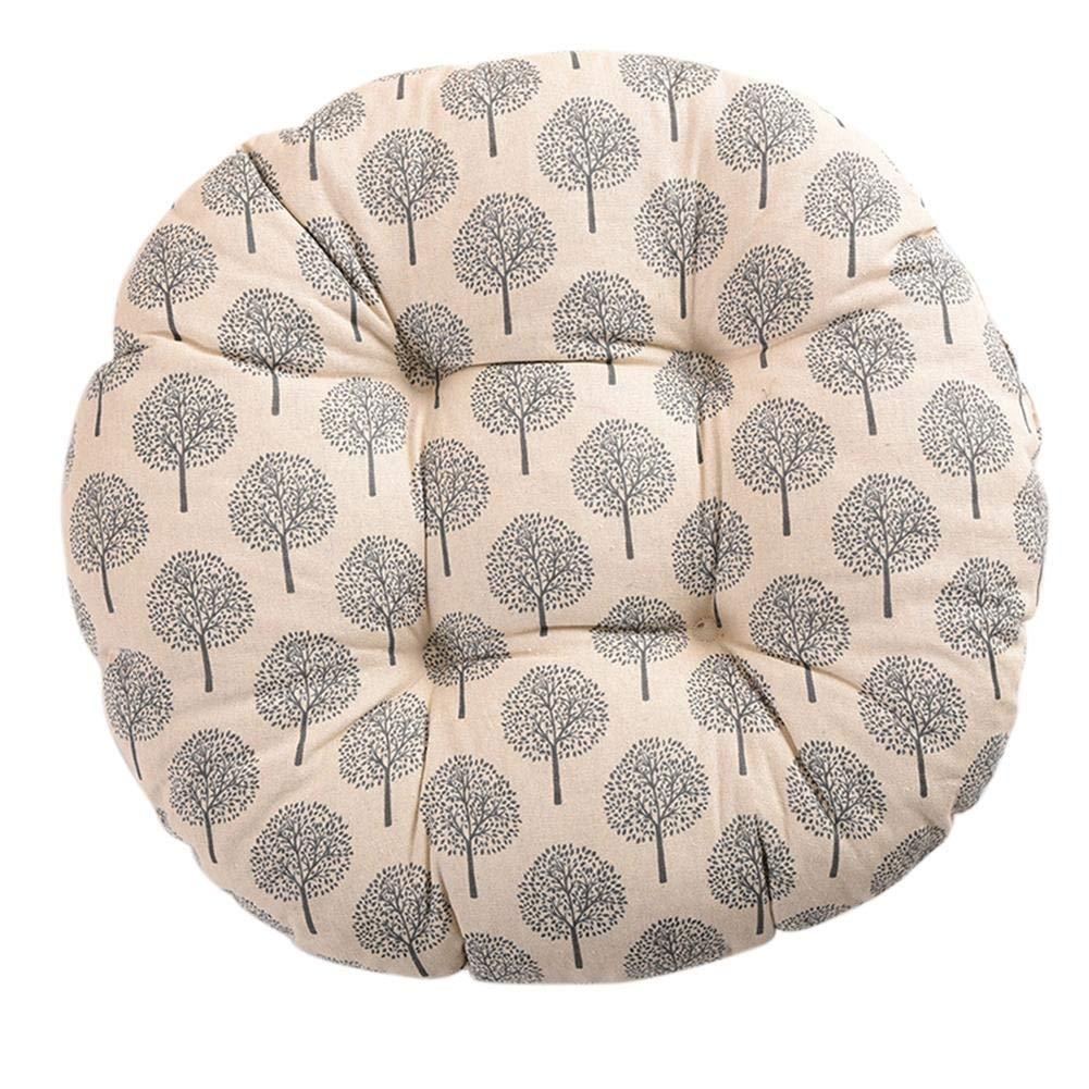 iB/àste Galettes De Chaise Ronde Coussin D/écoration Portable Confortable Rembourr/é Souple Blanc Color/é Epais Maison Bureau Carr/é D/écor De Chaise 50cm 19.69inches