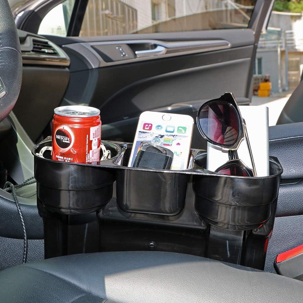 Organizador Universal para el Asiento del Coche Soporte para el tel/éfono m/óvil con cu/ña para Guardar Bebidas Soporte para el Coche Caja de Almacenamiento para el Coche.