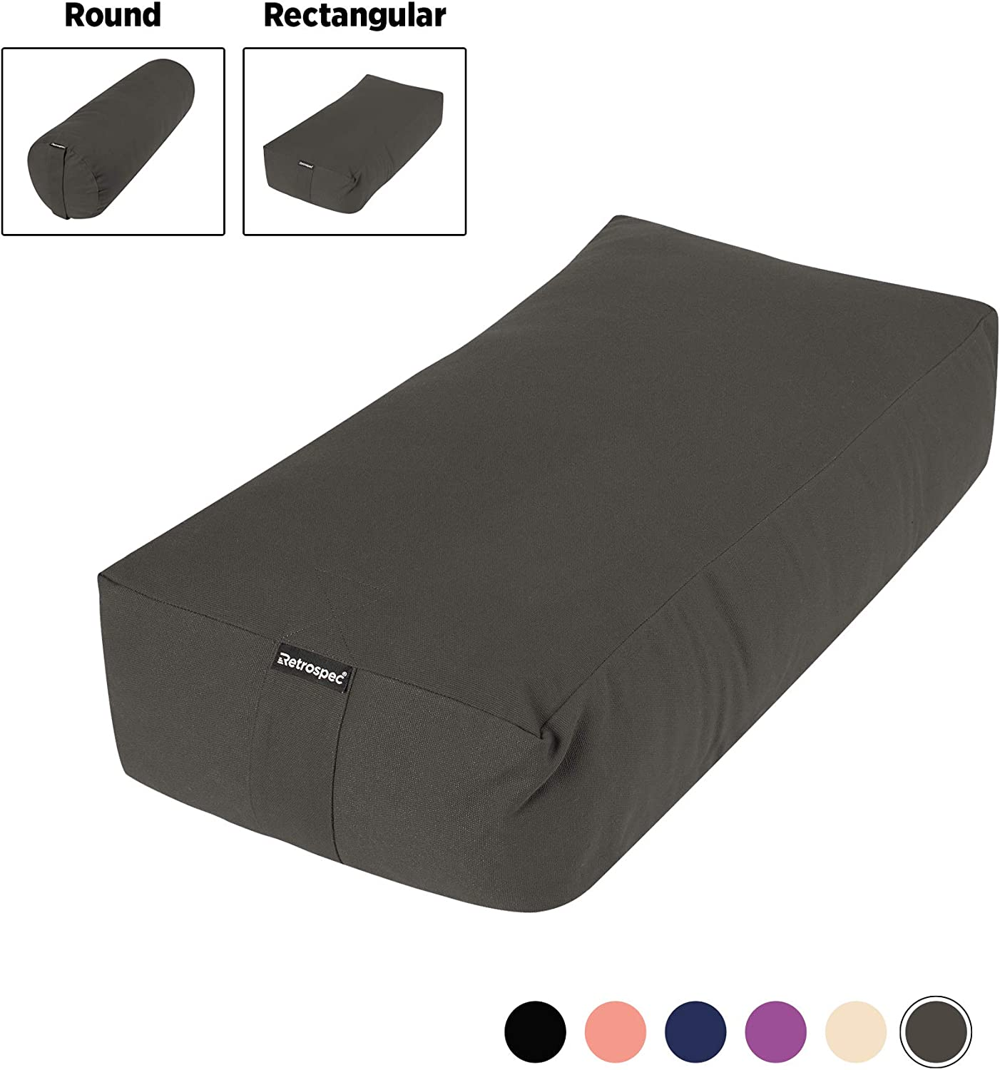 Amazon.com : Retrospec Sequoia Yoga Bolster, Includes ...