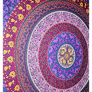 Amazon Com Popular Handicrafts Barhmeri Circle Of Flowers Hippie
