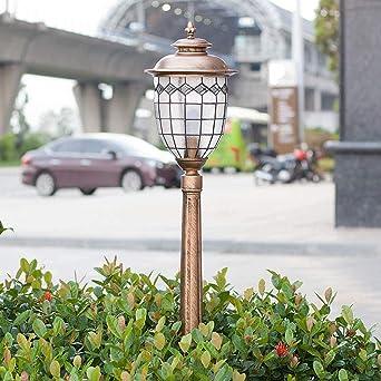 POST Lámpara al aire libre, luces de camino al aire libre, retro luces de jardín LED de gran luminosidad súper brillantes for césped, patio y patio.: Amazon.es: Iluminación
