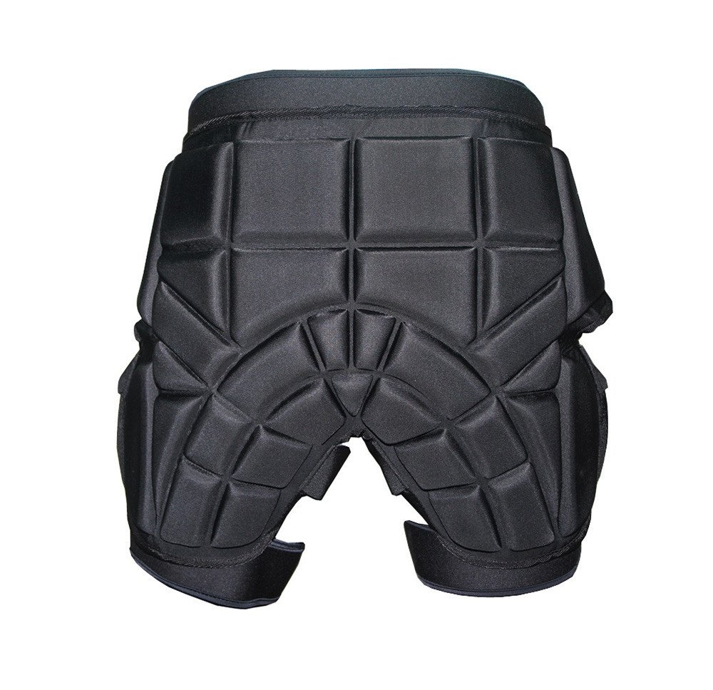 Unisex Protective Shorts Hip butt EVA Pad Padded Short Pants Heavy Duty Protective Gear Guard Drop Resistance Impact Protection Skiing Skating Snowboard Fits for Kids Teens Adults (BLACK, M)