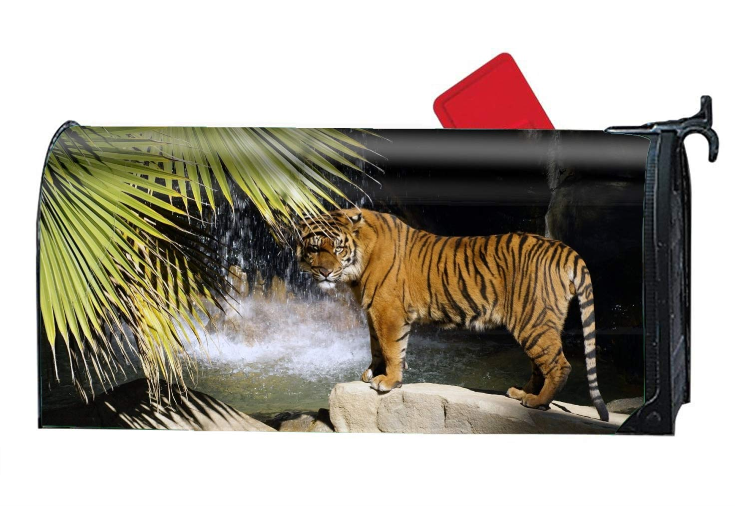 FANMIL Animal Tiger Water Cat Personalized Mailbox Cover Magnetic Summer for Standard Mailboxes