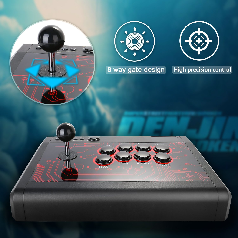 Amazon.com: Arcade Fight Stick KINGTOP Fighting Joystick for PS4 PS3 ...