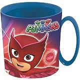 BBS PJ Masks Taza para Microondas, Plástico y Polipropileno, Azul y Rojo, 10.5