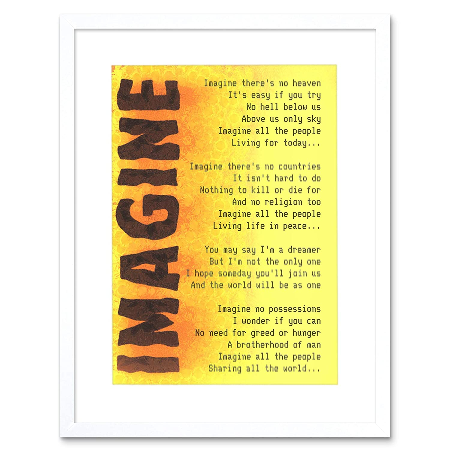 JOHN LENNON IMAGINE CANVAS PRINT PICTURE WALL ART FREE FAST DELIVERY