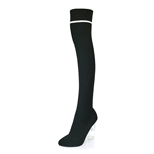 5b457d8f85e Image Unavailable. Image not available for. Color  DailyShoes Thigh-High  Sweater Heels-Over The Knee Tall