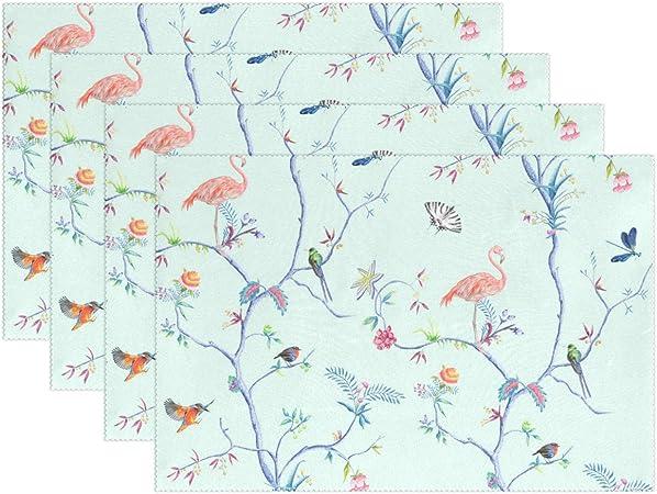 Yochoice Tumblr Oiseaux Impression Set De Table Tropical Imprime