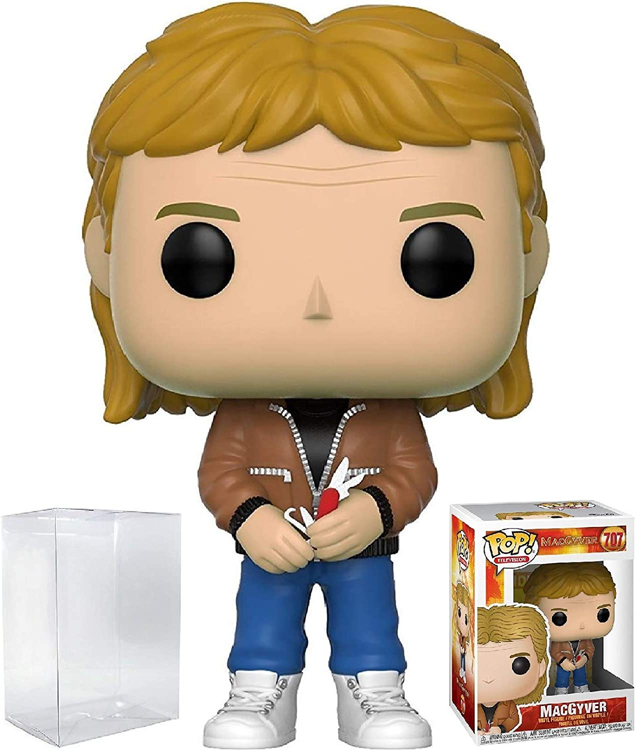 Funko Pop! TV: MacGyver - MacGyver Vinyl Figure (Bundled with Pop Box Protector Case)