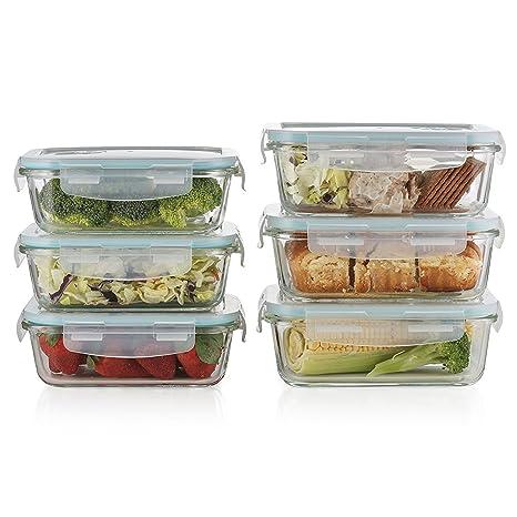 Amazoncom Prestee 12 pc Glass Food Storage Containers Set Of 6
