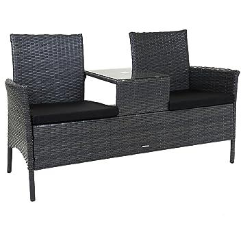 Charles Bentley 2 plazas Rattan Companion Amor silla del asiento de ...
