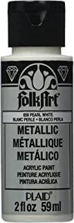 product image for FolkArt Metallic Acrylic Paint in Assorted Colors (2 oz), K659, Pearl White