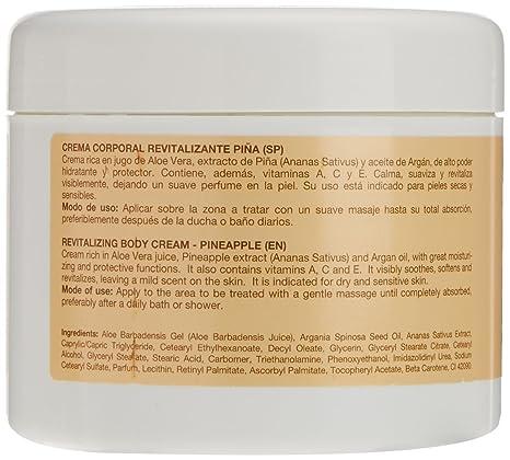 Argan-Aloe 70040 - Crema corporal revitalizante con piña: Amazon.es: Belleza