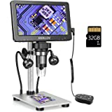 """ANNLOV 7"""" LCD Digital Microscope with 32GB TF Card 1200X Maginfication 1080P Coin Microscope with Wired Remote,12MP Ultra-Pre"""