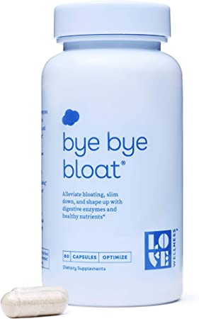 Love Wellness Bye, Bye, Bloat - Digestive Enzymes Supplement - 30 Day Supply - Bloating Relief - Gas Relief - Helps Reduce Water Retention - Helps Your Overall Digestive Health - Safe & Effective