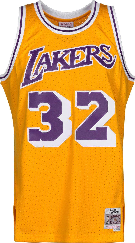 0c249e8a8 Mitchell   Ness NBA Los Angeles Lakers Magic Johnson 1984-85 Swingman  Jersey X Large  Amazon.es  Deportes y aire libre