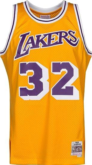 ff0c964c843 Mitchell   Ness Magic Johnson  32 Los Angeles Lakers 1984-85 Swingman NBA  Jersey