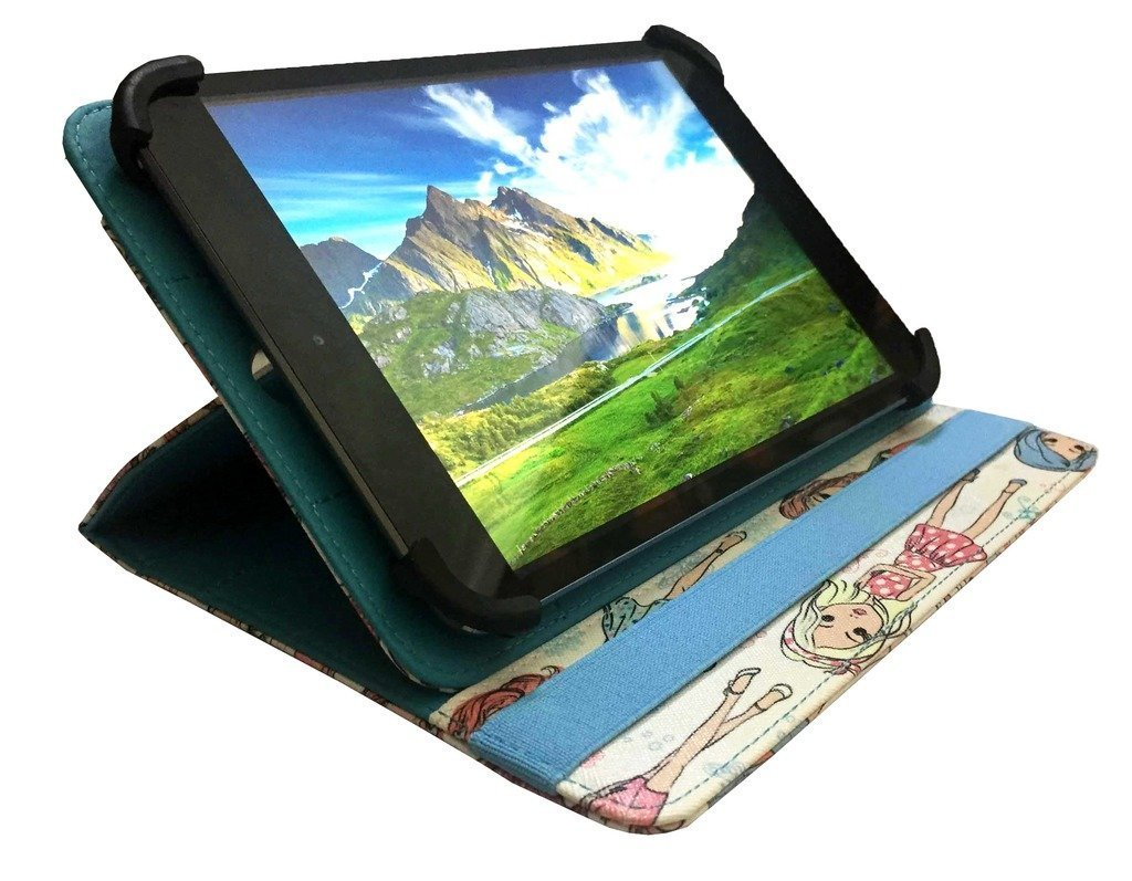 9-10 inch by Sweet Tech Logicom M Bot Tab 101 Tablet PC 10.1 Tablet Sailing Boat Universal 360 Degree Rotating PU Leather Wallet Case Cover Folio