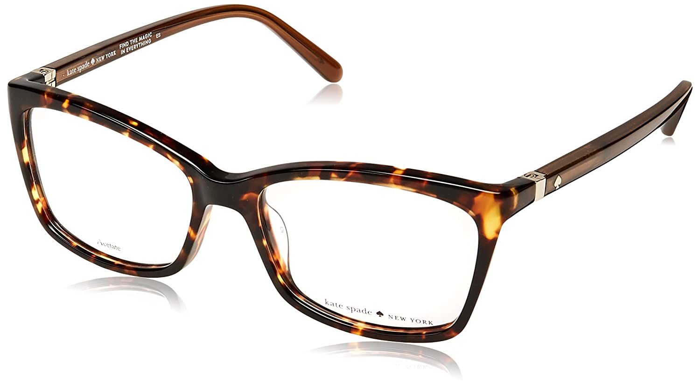 ae6e0898209 Eyeglasses Kate Spade Cortina 0RRW Havana Brown at Amazon Men s Clothing  store