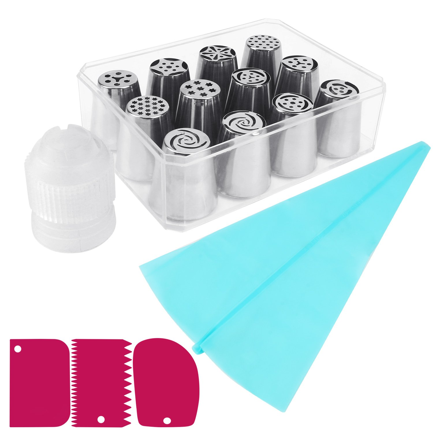 Amazon Russian Piping Tips MCIRCO Cake Decorating Tips Set