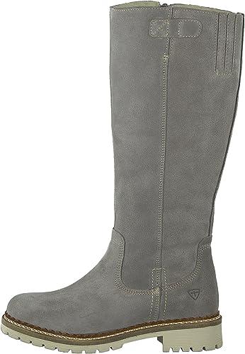 Tamaris Damen Stiefel 26671 21,Frauen Boots,Langschaftstiefel,gefüttert,Reißverschluss,Blockabsatz 2.5cm