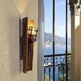 Landhausleuchte dachziegel jede ein unikat mit original nonnenziegeln glas der wandleuchte - Wandlampe mediterran ...