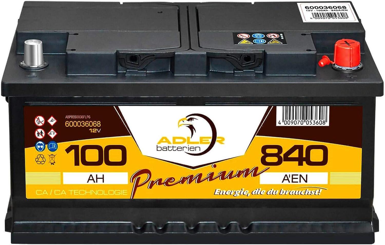 sofort betriebsbereit 30/% mehr Startkraft Starterbatterie Autobatterie 100Ah