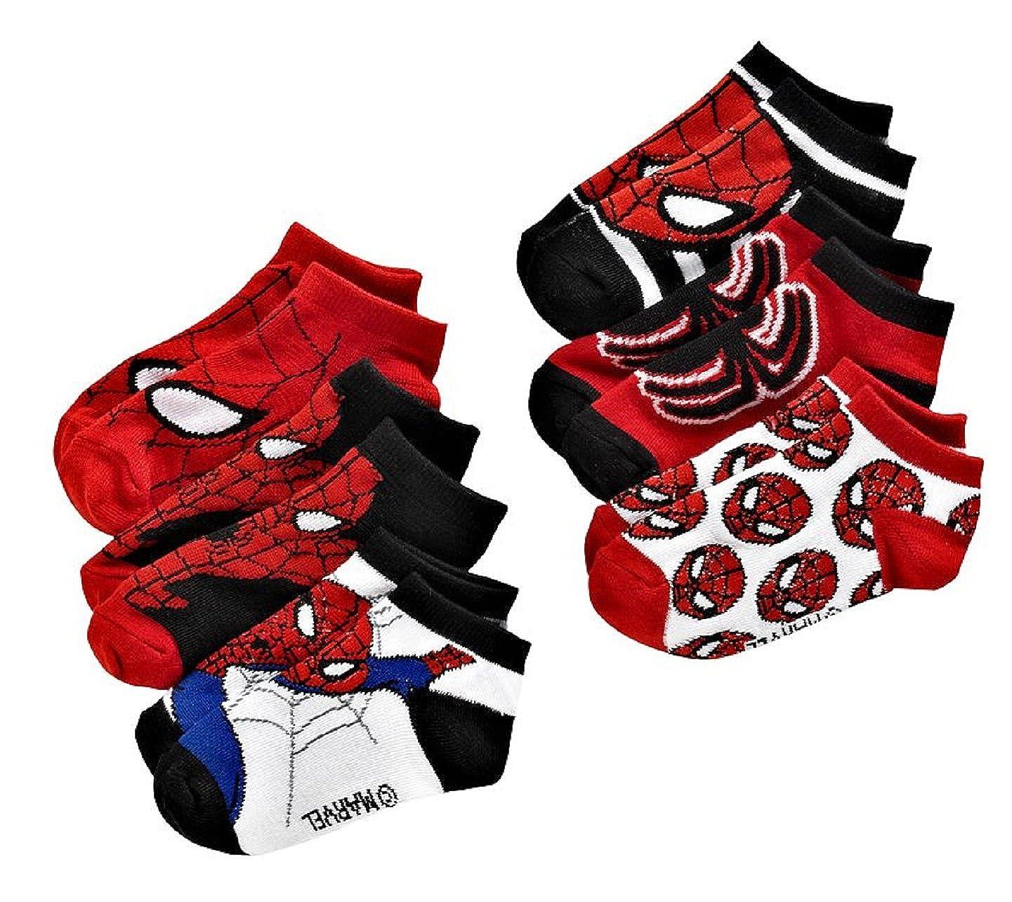 Spiderman Toddler Socks 6PK 2T - 4T
