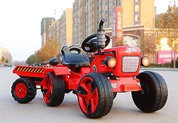 TONGSHAO Vehículos de Granja/Juguetes para Coches / Tractor eléctrico de Cuatro Ruedas simulado Que los niños Pueden Montar en un Carro de Juguete (Tractor ...