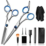 Haircut Kit, Professional Hair Cutting Scissors Kit Men, Hair Thinning Shears with Hair Cutting Comb, Home Salon Barber…