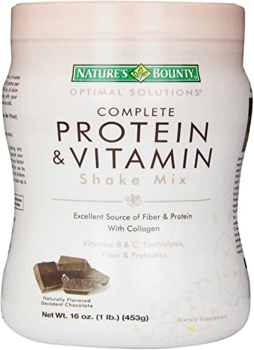 Nature s Bounty Optimal Solutions Protein Vitamin Shake Chocolate