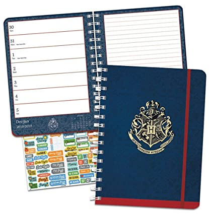 Harry Potter 2019 Weekly Planner Set - Deluxe 2019 Harry Potter Monthly Planner with Calendar Stickers (Spiral Bound, Hardcover; Office Supplies)