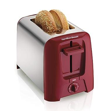 Hamilton Beach Cool Wall 2-Slice Toaster, Red (22623)