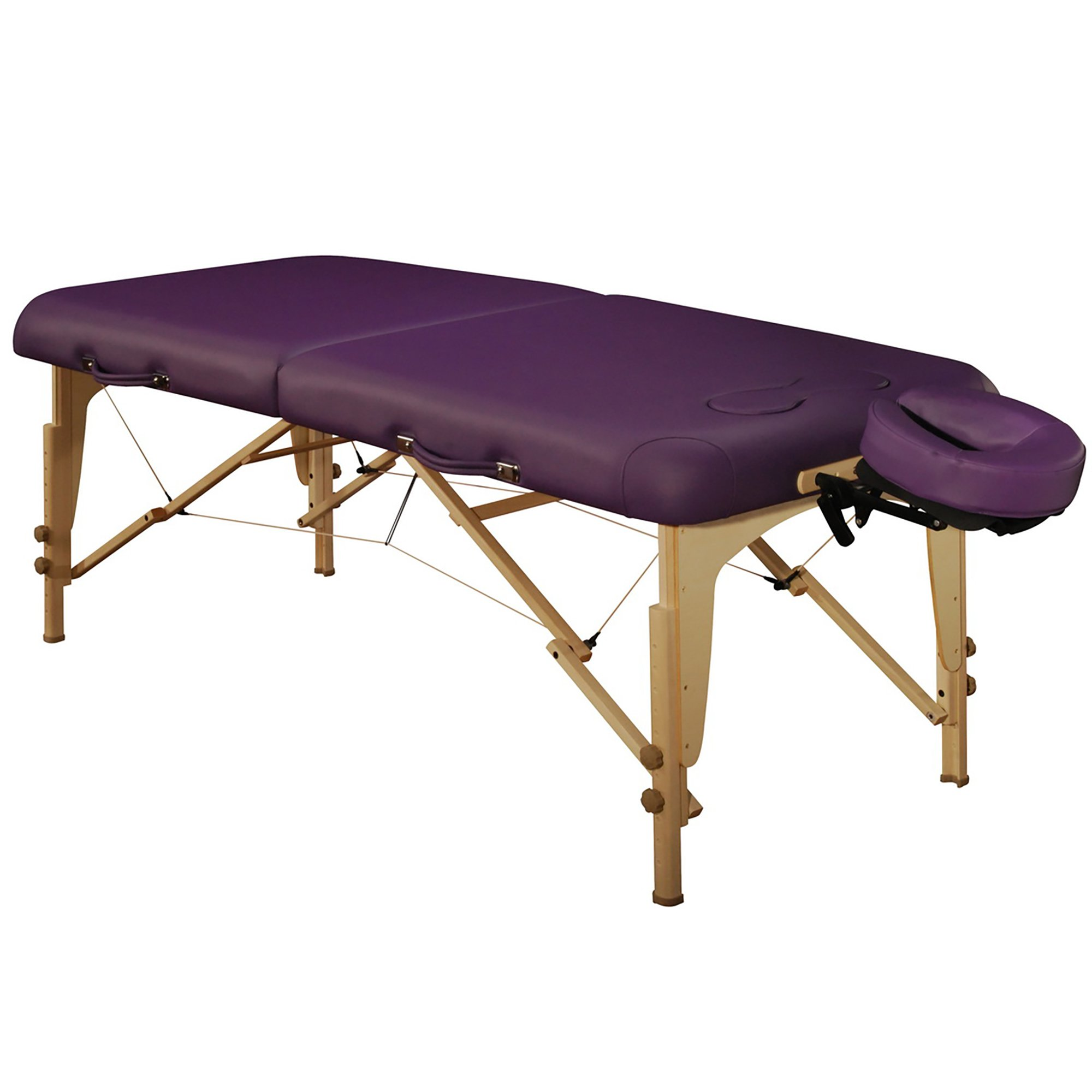 Mt Massage Midas-Girl 30'' Breast Recess Professional Portable Massage Table Package (Purple)