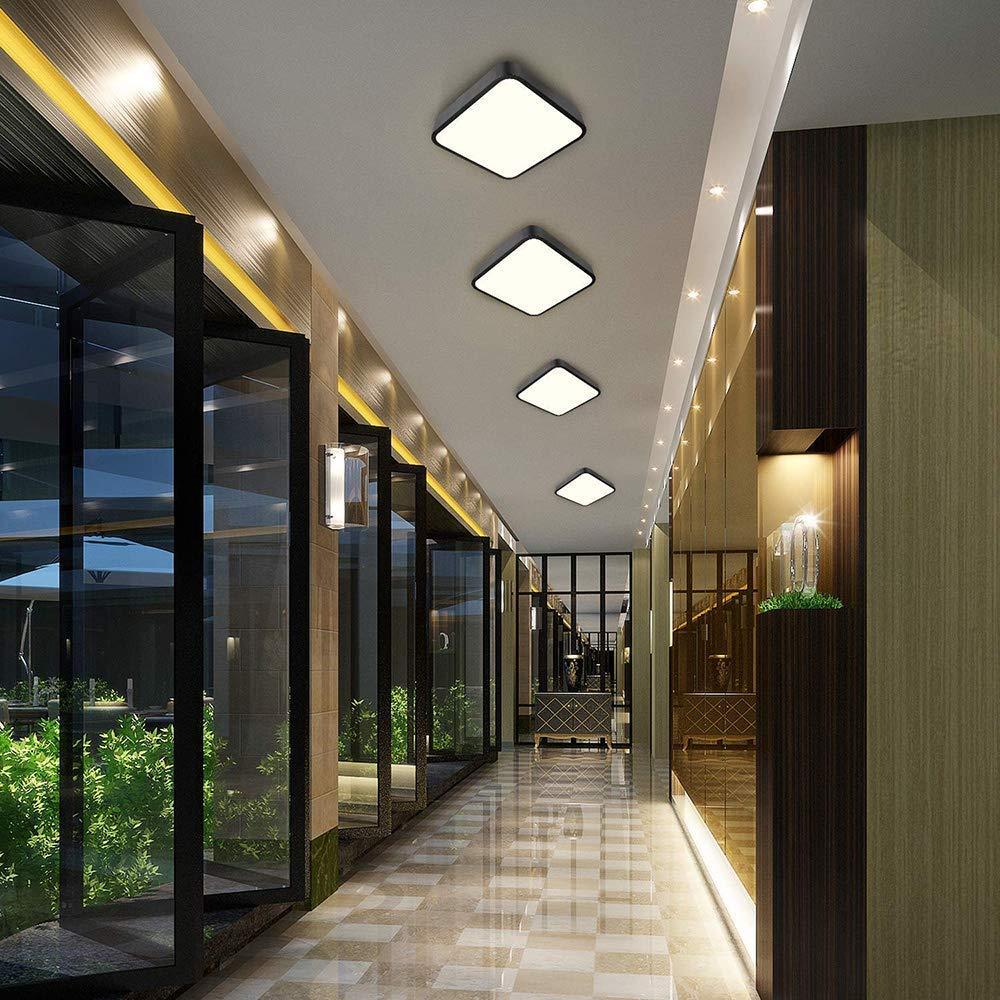 24W Plafoniera LED,bedee 1800LM Lampada da soffitto LED, 16LEDs Bianco Naturale 4000K per soggiorno Sala da pranzo Camera da letto Bagno Cucina Balcone Corridoio [Classe di efficienza energetica A++]