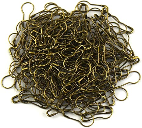 lieomo 1000pcs 0.85 Inch Tone Gourd Bulb Pear-shaped Safety Pins For Hanging Tags-Black
