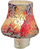 Glass Night Lights Pn-299 Colorful Mosaic Art Glass Plug In Night Light 4 X 4.5 X 3.5 Inches Multicolored