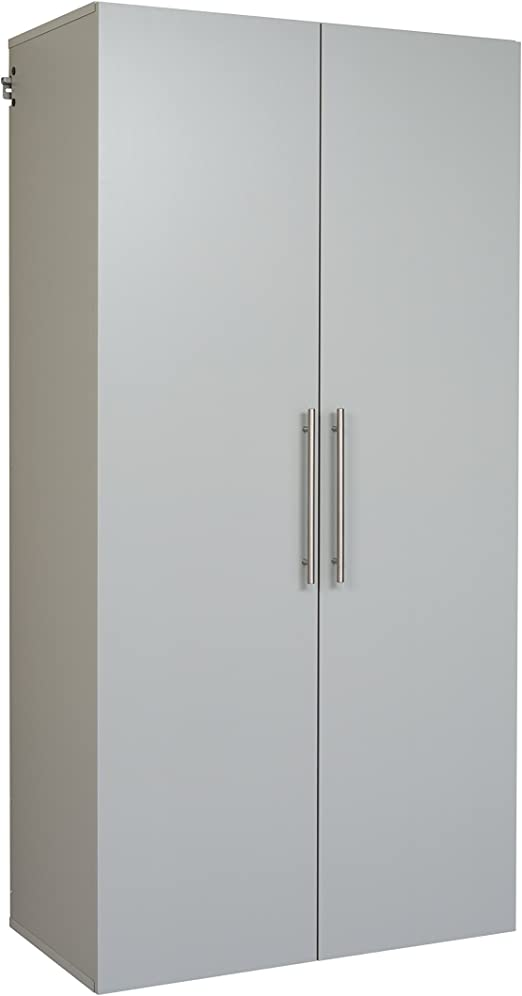 "Prepac HangUps 24/"" Upper Storage Cabinet in Light Grey Laminate"