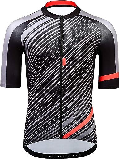 Amazon.com: cheji Pro Team Cycling Jersey Dry Quick Cycling Shirt ...