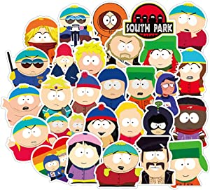 South Park Stickers for Hydro Flask, 50Pcs Pack Waterproof Vinyl Stickers for Laptop Water Bottle Luggage Phone Skateboard, Cool Bike Motor Helmet Guitar Computer Decal (Cool Funny Cartoon)
