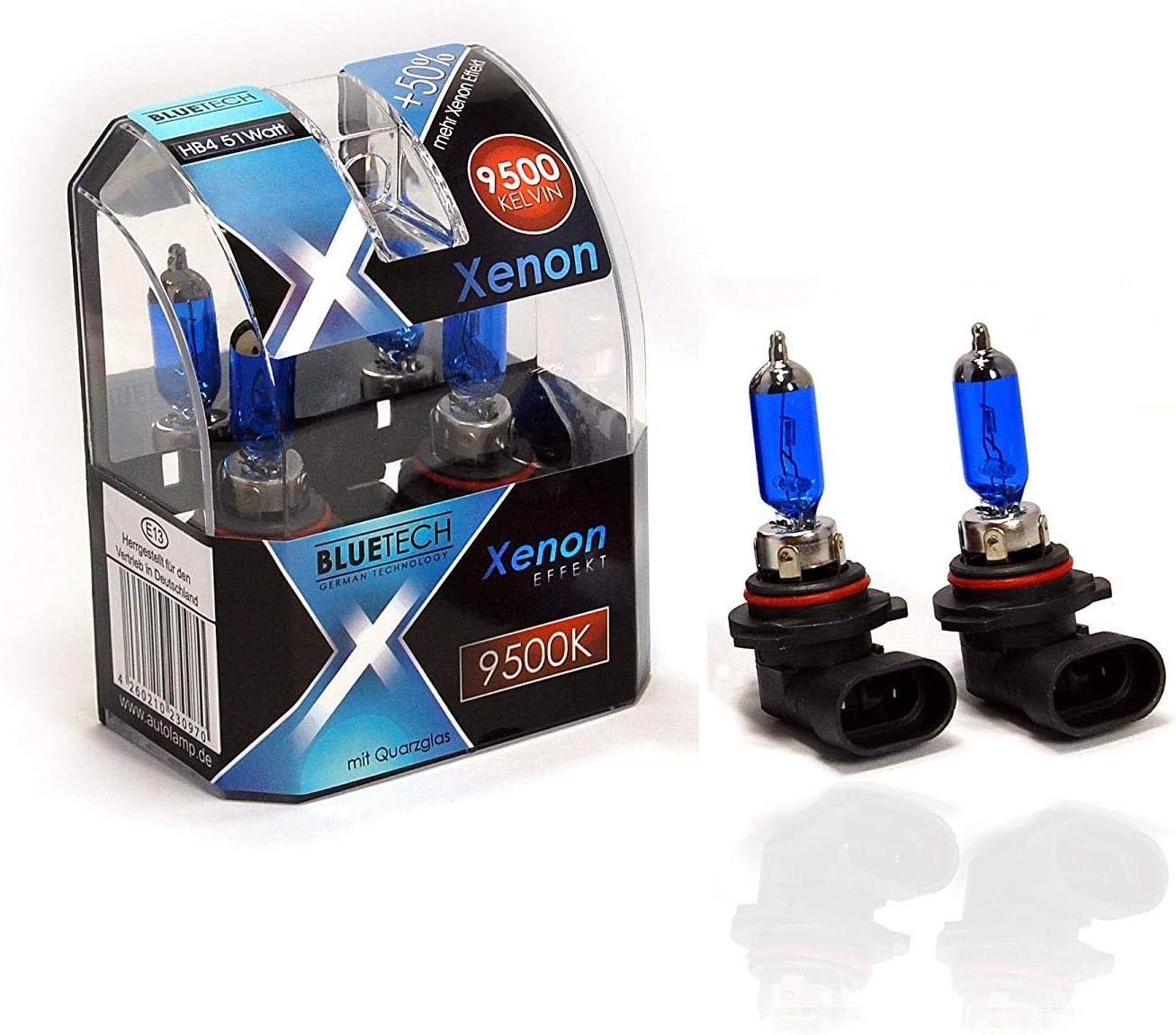 Bluetech Hb4 51w 9500k Xenon Effekt 2er Set Mit Stvzo Zulassung Auto