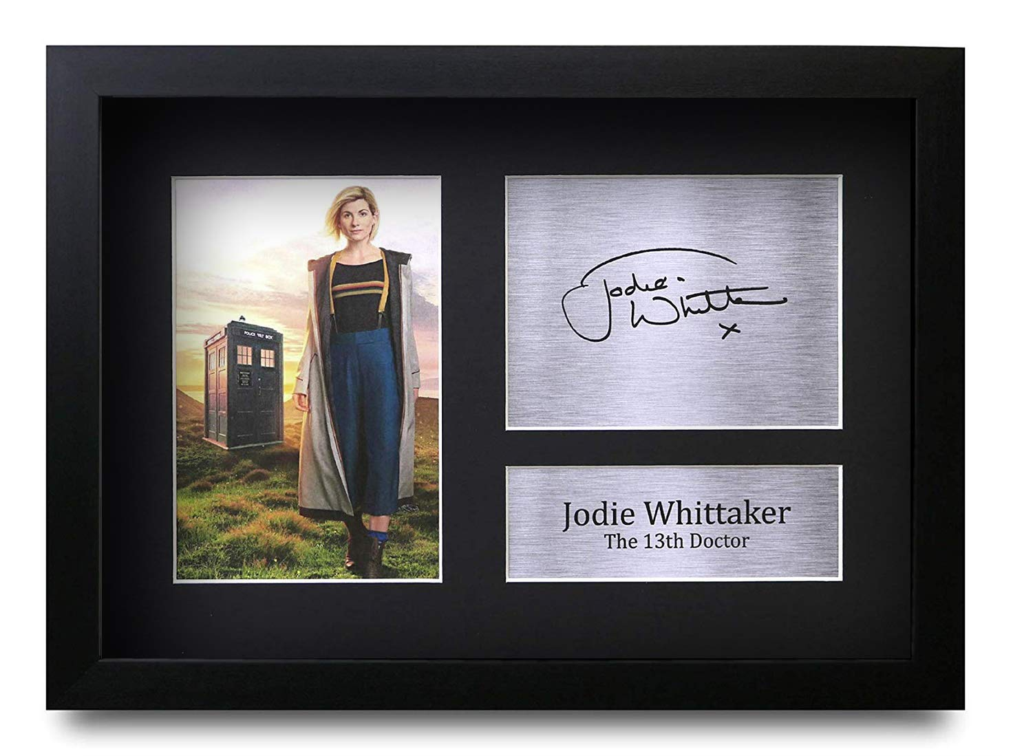 HWC Trading FR Jodie Whittaker Gift Signed FRAMED A4 Printed Autograph Doctor Dr Who Gifts Photo Picture Print Display