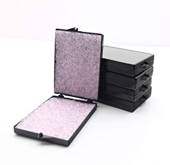 Black Conductive Hinged Plastic Storage Box with Pink 1/4