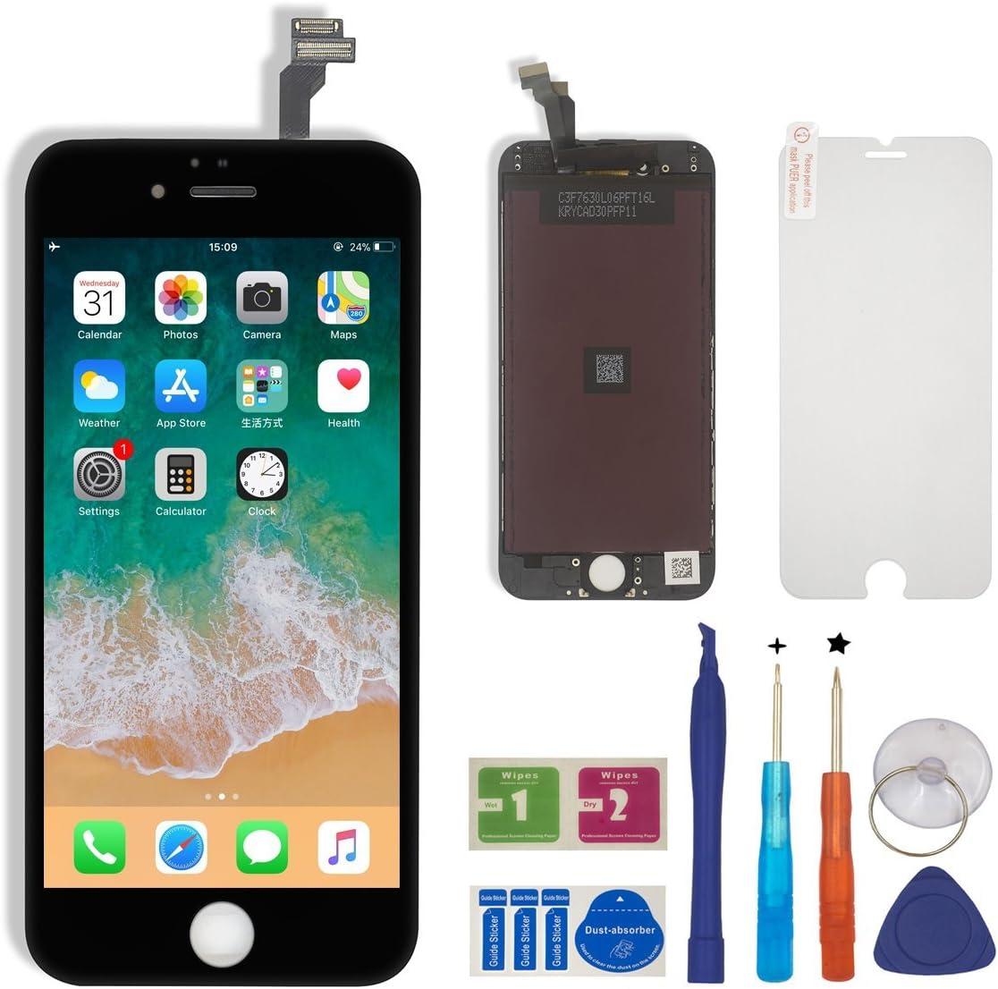 Negro BBSELL LCD Pantalla T/áctil Reemplazo De Marco Digital Un Conjunto Completo De Herramientas y Montaje Pantalla De Vidrio Protector para iPhone 7 4.7