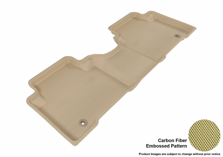 3D MAXpider L1HY01701509 Complete Set Custom Fit All-Weather Floor Mat for Select Hyundai Santa Fe Models Kagu Rubber Black