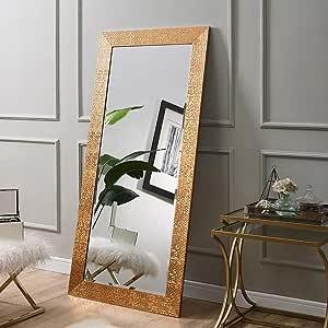Naomi Home Mosaic Style Full Length Floor Mirror Copper Furniture Decor