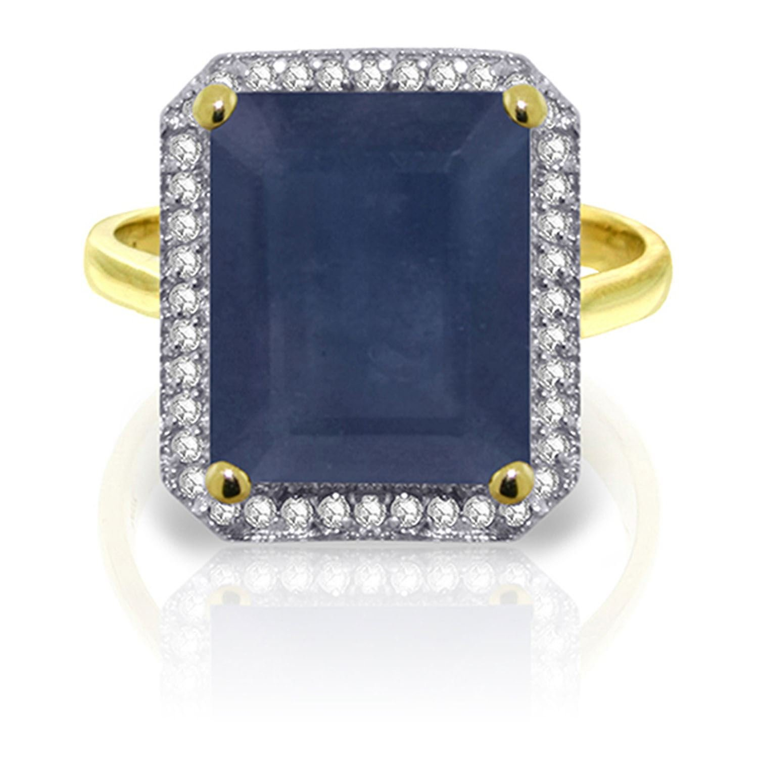 ALARRI 6.6 CTW 14K Solid Gold Persued By Angels Sapphire Diamond Ring With Ring Size 11